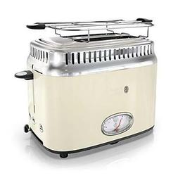 NEW Russell Hobbs TR9150CRR Retro Style Toaster, 2-Slice, Cr