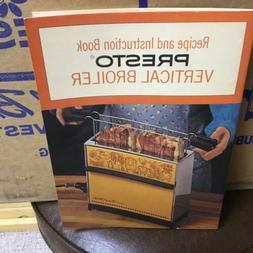 NEW Vintage Presto Vertical Broiler Upright Toaster Harvest