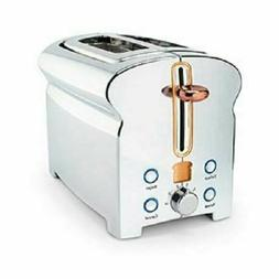 NIB Michael Graves 2 Slice Chrome Toaster Defrost, Reheat, B