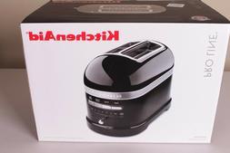 NIB KitchenAid Pro Line 2-slice Toaster black KMT2203OB onxy