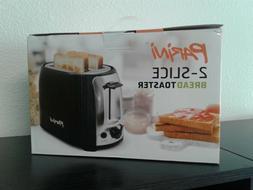 Parini 2-Slice Toaster, Brushed Stainless Steel - NEW