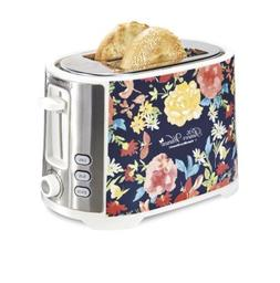Pioneer Woman 2 Slice Toaster Extra-Wide Slot Fiona Floral H