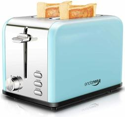 2 Slice Toaster, Stainless Steel Compact Toaster Extra Wide