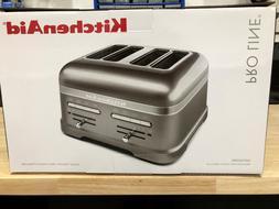 KitchenAid Pro Line Series Medallion Silver 4-Slice Toaster-
