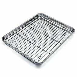 TeamFar Quarter Sheet Pan and Rack Set, Stainless Steel Baki