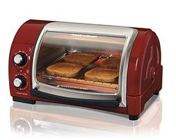 Hamilton Beach® Red Easy Reach™ Toaster Oven with