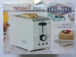 Retro Design 2-slice Toaster with Re-Heat, Defrost and More