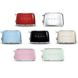 SMEG Retro Style Electric Toaster 4 Slice 2 Slot  - TSF02 -