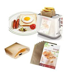 Reusable Non-stick Toaster Bags -Heat Resistant Easy to Clea