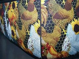 Roosters & Sunflowers Quilted Fabric 2-Slice or 4-Slice Toas