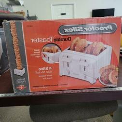 Proctor Silex 24610 4 Slice Toaster, White