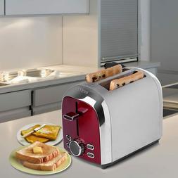 BESTEK Stainless Steel 2-Slice Digital Toaster, Extra Wide S