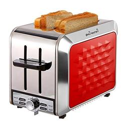 Fortune Candy 2 Slice Toaster, Compact Stainless Steel Toast