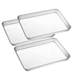Stainless Steel Baking Pan, Large Cookie Sheet Set for Toast