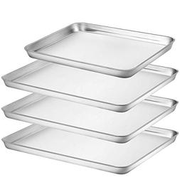Umite Chef Stainless Steel Baking Pan, 4 Piece Large Cookie