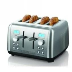 Stainless Steel Digital 4 Slice Bread Toaster Dual Control D