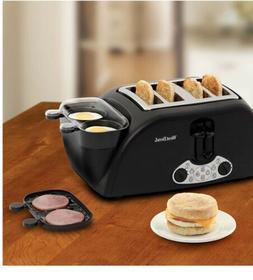 West Bend TEM4500W Egg & Muffin Toaster, 4-Slice, Black (Dis