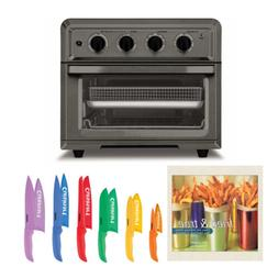 Cuisinart TOA-60BKS Toaster Oven Air Fryer and Knife Set Bun