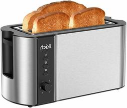 IKICH Toaster 2 Long Slot Toaster 4 Slice Stainless Steel Wa