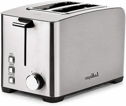 """Toaster 2 Slice Long Slot, Auto Pop-Up Stainless Steel 1.57"""""""