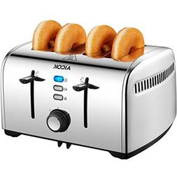 Aicok Toaster, 4-Slice Toaster with 7 Browning Control, Defr