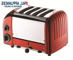 DUALIT TOASTER 4 SLICE RED CANDY APPLE 47020 NEWGEN WITH 5 Y