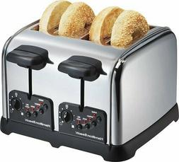 Toaster 4 Slice Extra Wide Slot Automatic Shutoff Easy Clean