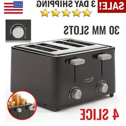 Toaster Bread Electric Four Wide Slots Bagel Kitchen Digital