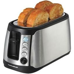 Toaster Extra Wide Four Slice Hamilton Beach Long Slot Keep