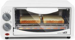Toaster Oven 0.6 Cu. Ft. Tempered Glass Door 4 Functions Ele