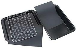 Checkered Chef Toaster Oven Pans - 5 Piece Nonstick Bakeware