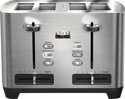 Toster 4 Slice Slot Stainless Steel 1800w Adjustable Tempera
