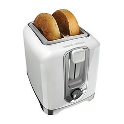 BLACK+DECKER TR1256W 2-Slice Toaster, Bagel Toaster, White