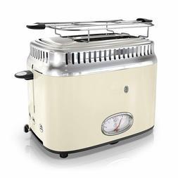Russell Hobbs TR9150CRR Retro Style Toaster, 2-Slice, Cream
