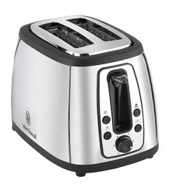 Russell Hobbs TR9198S 2 Slice Toaster, Stainless Steel, FREE
