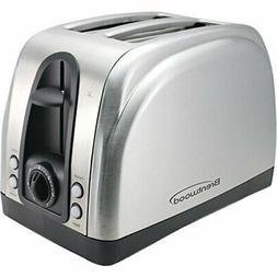 Brentwood Ts-225S 2-Slice Elegant Toaster with Brushed Stain