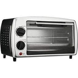 4 Slice Toaster Oven and Broiler Black
