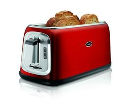 Oster TSSTTRJB30R-033 4-Slice Long-Slot Toaster, Red