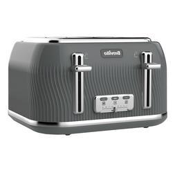 Breville VTT892  DFlow Collection 4 Slice Gray Toaster 220 V