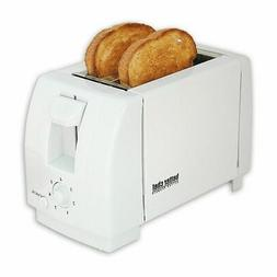 white compact 2 slice toaster bread slice