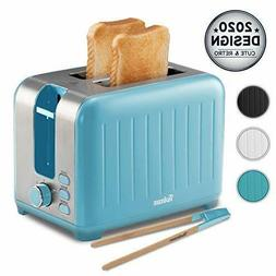Wide Slot Toaster 2 Slice - 3 in 1 Retro Toaster, Matte Teal